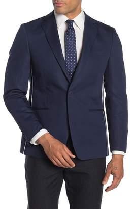 Calvin Klein Navy Slim Fit Pipe Trim Suit Separate Jacket