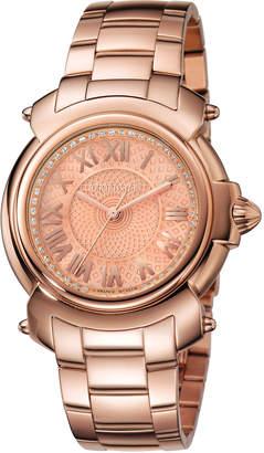 Roberto Cavalli By Franck Muller 35mm Bracelet Watch, Rose IP