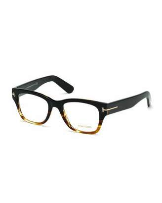 TOM FORD Square Two-Tone Optical Frames, Havana $440 thestylecure.com