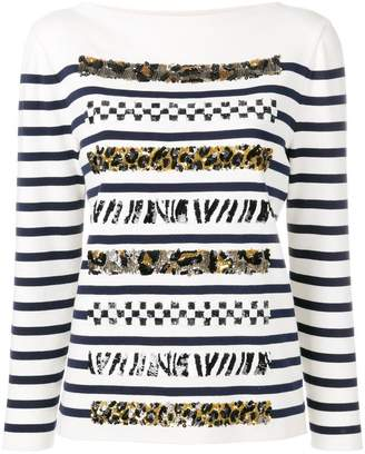 Marc Jacobs boat neck long sleeve jumper