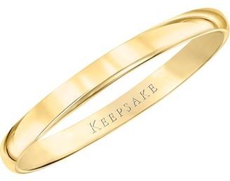 Keepsake 10kt Yellow Gold Wedding Band, 2mm