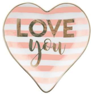Karma Heart Trinket Tray, Pink/Love You