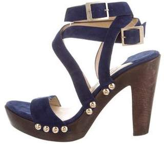 Jimmy Choo Suede Crossover Sandals