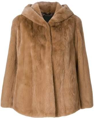 Liska hooded fur jacket
