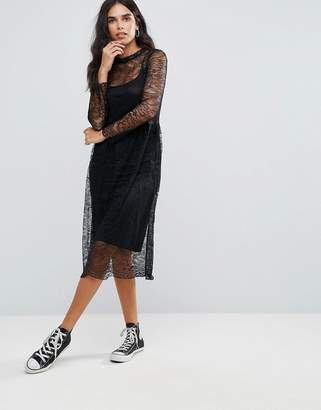 Only Lace Midi Dress