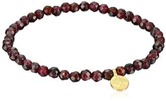 Satya Jewelry Garnet Gold Plated Tree of Life Stretch Bracelet