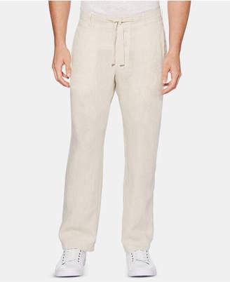 Perry Ellis Men Regular-Fit Linen Drawstring Pants
