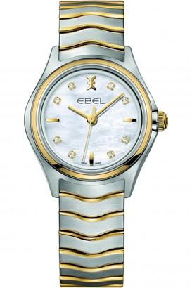 Ebel Ladies New Wave 18ct Gold Diamond Watch 1216197