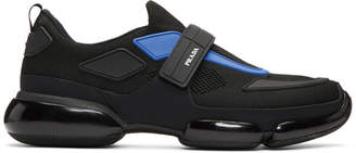 Prada Black and Blue Sport Sneakers