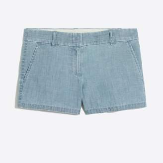 "J.Crew Factory 3 1/2"" chambray short"