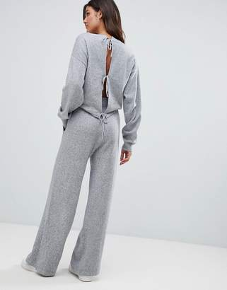 Micha Lounge Relaxed Jumpsuit With Cut Out Back Detail