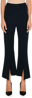 Stella McCartney Front-Slit Flared Crepe Flared Pants