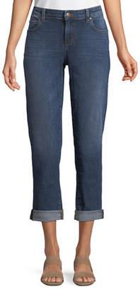 Eileen Fisher Plus Size Stretch Boyfriend Jeans