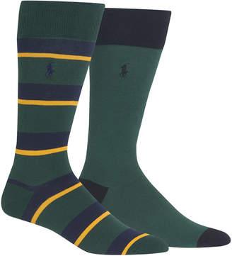 Polo Ralph Lauren Men's 2-Pk. Rugby Stripes Socks