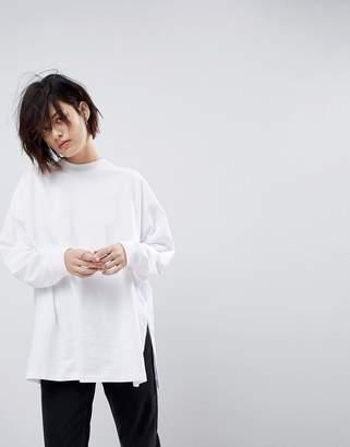 Asos DESIGN super oversized lightweight sweatshirt in white