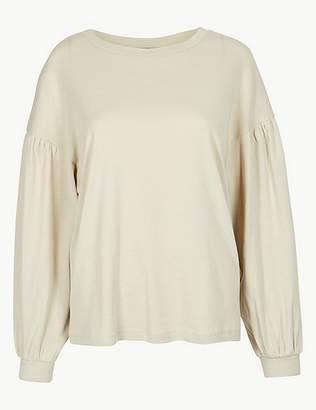 Marks and Spencer Pure Cotton Long Sleeve Sweatshirt