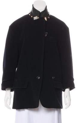 Kolor Embellished Wool Coat