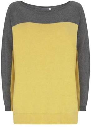 Mint Velvet Grey & Buttercup Blocked Knit