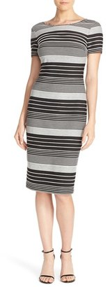 Women's Eci Stripe Jersey Sheath Dress $88 thestylecure.com