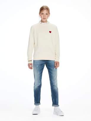 Scotch & Soda Woven Collar Sweatshirt