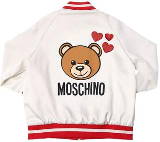 Moschino Nylon Satin Bomber Jacket