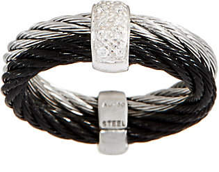 Alor Cable Stainless Steel & Diamond Two-ToneRing