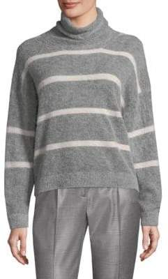 Peserico Striped Turtleneck Sweater