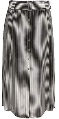 A.L.C. (エーエルシー) - A.l.c. Striped Silk-Crepe Midi Skirt