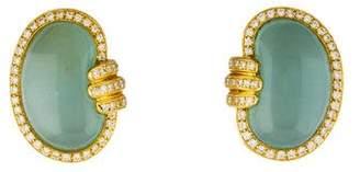 Valentin Magro 18K Aquamarine & Diamond Clip-On Earrings