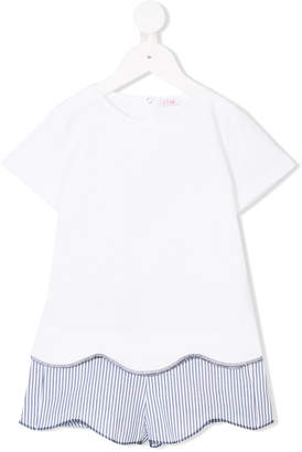 Il Gufo striped T-shirt and shorts set