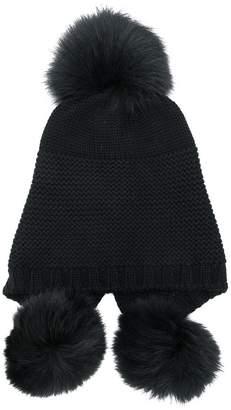 Dondup Kids pom pom knitted hat