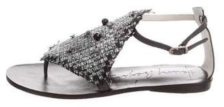 Henry Beguelin Embellished Woven Sandals w/ Tags