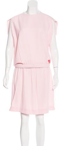 Balenciaga  Balenciaga Belted Silk-Blend Dress