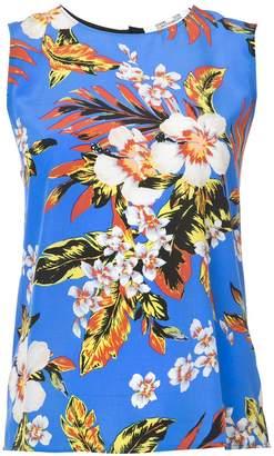 Diane von Furstenberg sleeveless floral blouse