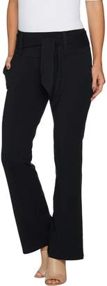 Women With Control Women with Control Regular Tummy Control Boot Cut Pants w/ Tie Detail