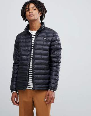 Wood Wood Joel quilted puffer jacket in black