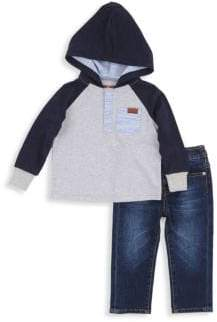 7 For All Mankind Little Boy's Two-Piece Sweatshirt and Jeans Set