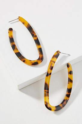 Amber Sceats Lynx Resin Hoop Earrings