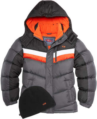CB Sports Hooded Colorblocked Puffer Coat, Big Boys
