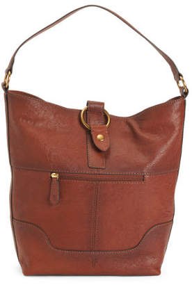 Leather Hobo With Ring