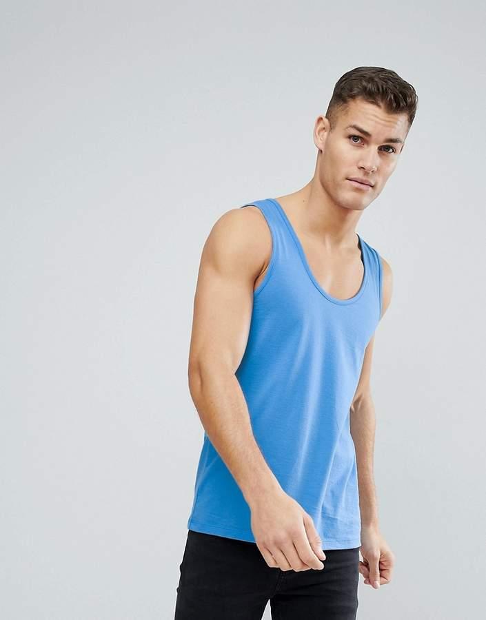 DESIGN – Blaues Trägershirt