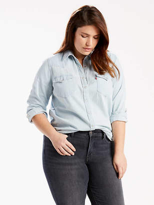Levi's Western Shirt Chambray (Plus Size)