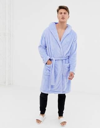 Asos DESIGN fluffy robe in light blue