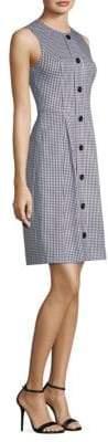 Michael Kors Gingham Plaid-Print Dress