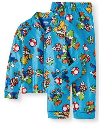 Super Mario Bros. Boy's Mario Button Up Pajama Sleep Set (Big Boys & Little Boys)