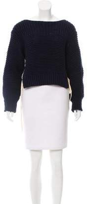Ulla Johnson High-Low Lace-Up Sweater