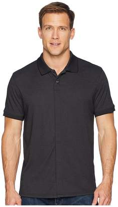 Magna Ready Classic Fit Ribbed Collar Knit Polo Men's Clothing