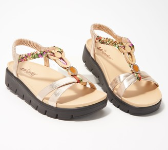 Alegria Embellished T-Strap Sandals- Roz