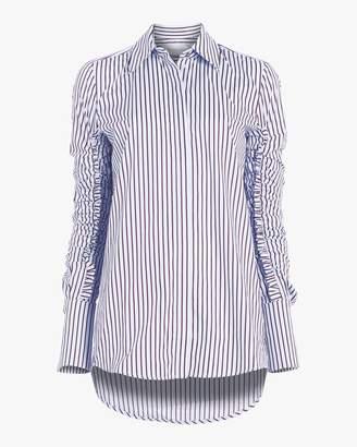 Victoria Beckham Victoria Gathered Sleeve Shirt