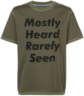 Mostly Heard Rarely Seen deconstructed logo print T-shirt